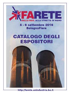 Copertina catalogo espositori Farete